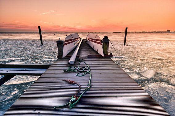 Steiger met ijsschotsen van John Leeninga