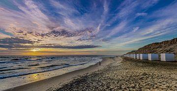 paal 9 Texel zonsondergang van Texel360Fotografie Richard Heerschap