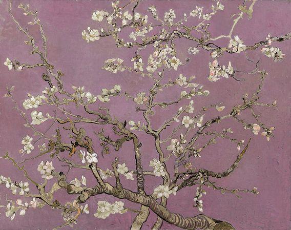 Amandelbloesem van Vincent van Gogh (Heart Wood)  van Meesterlijcke Meesters