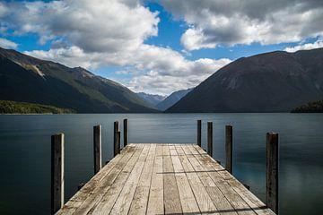 Rotoiti meer Nieuw-Zeeland van Rick Willeme