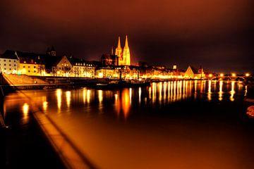 Regensburger Nachtpanorama von Roith Fotografie