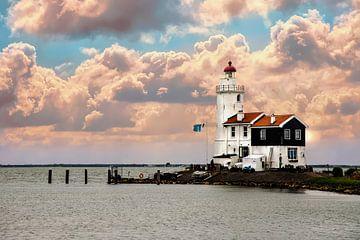 Le phare de Marken s'appelle le cheval de Marken sur Gert Hilbink