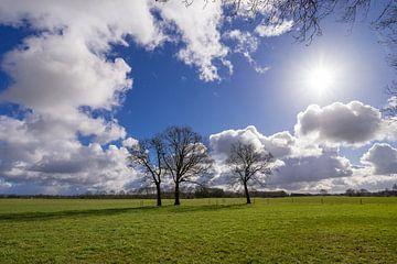 Hollandse wolkenlucht van Wim Kanis
