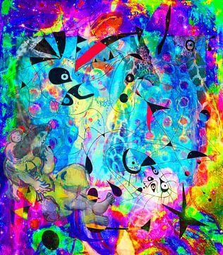Kunstparty mit Matisse, Chagall, Rothko, Miro, Brandt und Zanolino von Giovani Zanolino