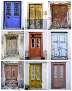 Poster der altgriechischen Türen von John Leeninga
