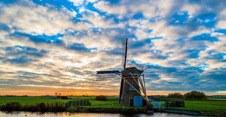 Molen in Nederlands landschap