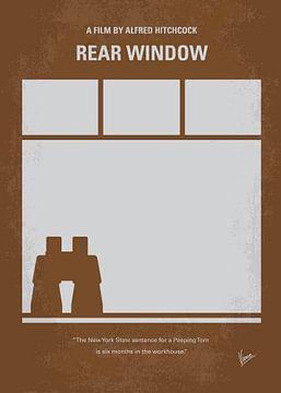No238 My Rear window minimal movie poster van Chungkong Art