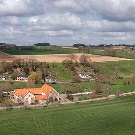 Vue aérienne de Bulkumsbroek et du Hulsveld à Simpelveld. sur John Kreukniet