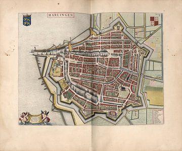 Harlingen, Stadsplattegrond Joan Blaeu 1652 van Atelier Liesjes