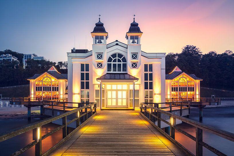 Glühende Seebrücke (Sellin / Rügen) van Dirk Wiemer