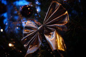 Gouden kerststrik