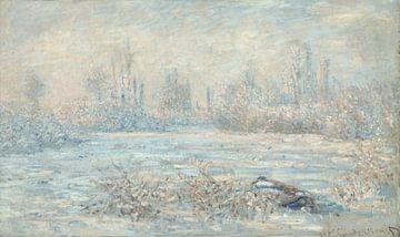 Frost près de Vetheuil, Claude Monet sur