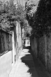 Klein straatje in Saint-Tropez van Tom Vandenhende