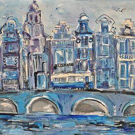 Amsterdam  stadsgezicht van Kunstenares Mir Mirthe Kolkman van der Klip