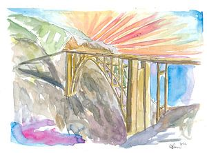 Bixby-Brücke am Big Sur Coast Highway Kalifornien