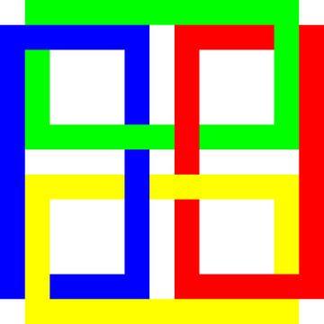 Onder en boven | Permutatie | ID=13 | V=46 | 4xO | P #01-W van Gerhard Haberern