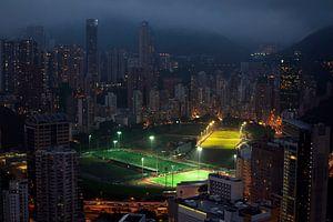 Hong Kong Skyline van Maurice Moeliker