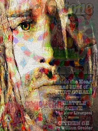 Kurt Cobain Pop Art Canvas van Leah Devora