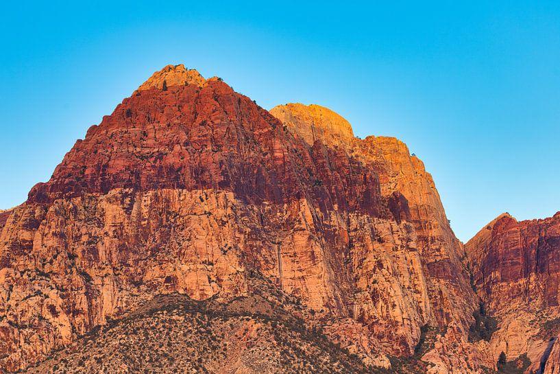 Red Rock Canyon - Las Vegas - close up van Remco Bosshard