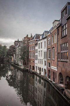 Oude panden Oudegracht Utrecht van