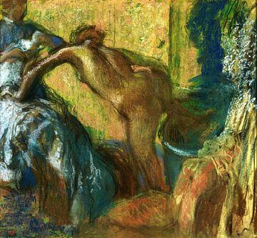 Edgar Degas, Na het Bad - 1895 van Atelier Liesjes