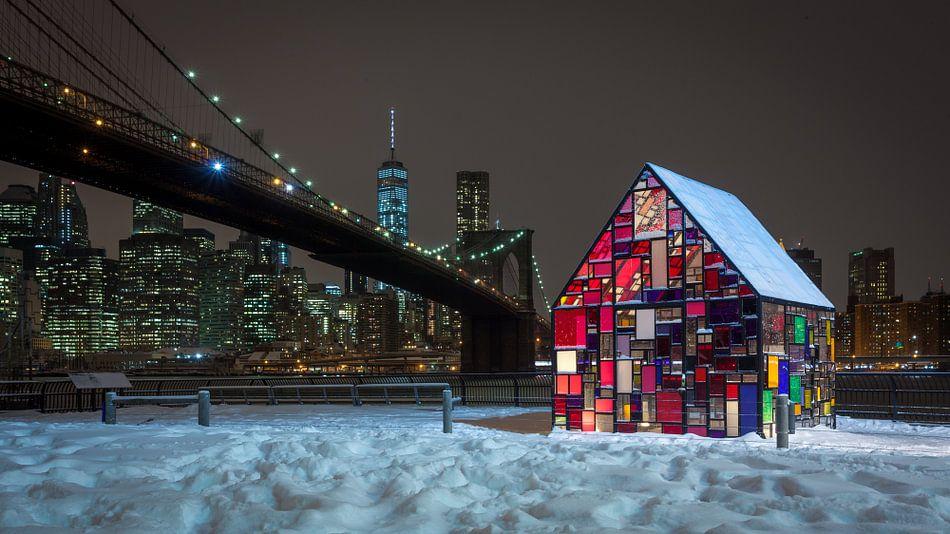 Tom Fruin's Stained Glass House - New York van Ivo de Bruijn