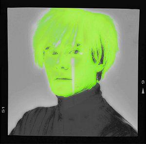 Motiv Porträt - Andy Warhol - Neon Film Cut von Felix von Altersheim