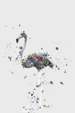 Het mozaïek van de witte flamingo van Catherine Fortin