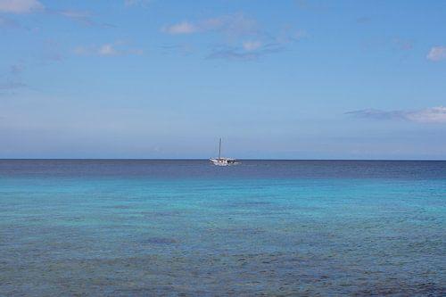 vissersbootje op zee