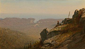 Der Künstler skizziert in Mount Desert, Maine, Sanford Robinson Gifford