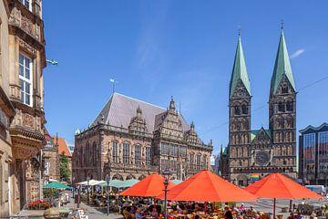 Stadhuis en Dom van Bremen, Bremen, Duitsland van Torsten Krüger