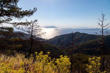 Verlicht landschap op het eiland Rhodos van Reiner Conrad
