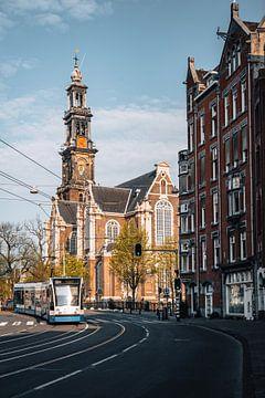 Raadhuisstraat mit Westerkerk, Amsterdam, Niederlande von Lorena Cirstea