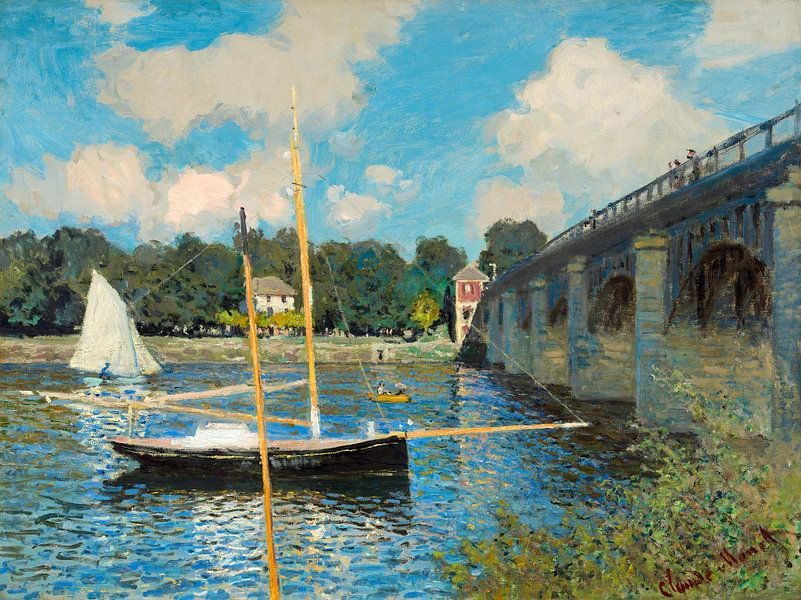 De brug in Argenteuil, Claudre Monet van Liszt Collection