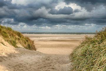 Noordzee strandopgang van Johan Habing