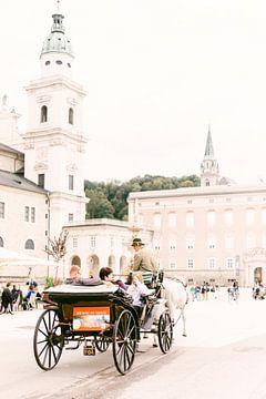 Binnenstad van Salzburg, Oostenrijk van Vildan Ersert