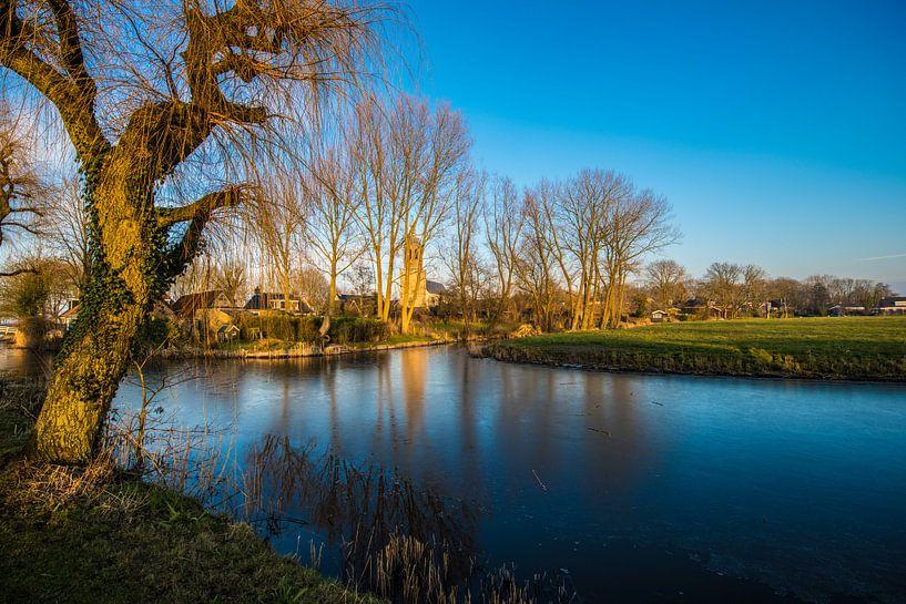 Gezicht over Donryp Friesland van Brian Morgan
