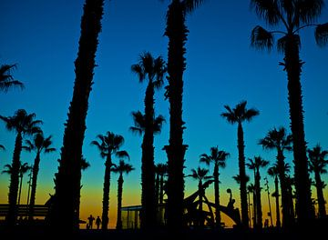 sunset boulevard Barcelona van Bert Bouwmeester