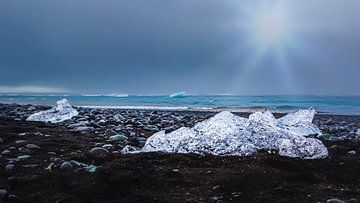 Diamantstrand in IJsland van Thomas Heitz