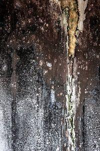 détail muraille délabrée usine urbex