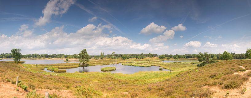 Panorama photo Hatertse et Overasseltse des lacs sur Jan Koppelaar