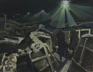 Het zicht van Ieper in de nacht van Atelier Liesjes