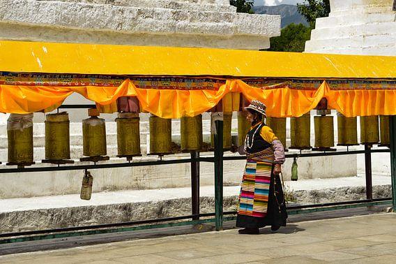 Traditionale Tibetaanse vrouw
