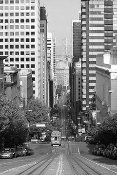 San Francisco schwarz-weiß von Jolanda van Eek