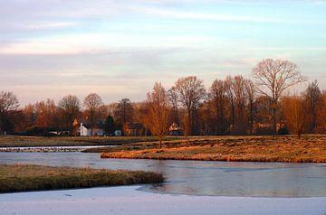 Zonsondergang in de polder/ Sunset winter van M de Vos