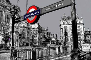 Piccadilly Londen van Rene Ladenius Digital Art