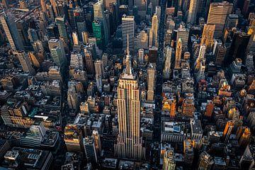 Empire State Building vu d'en haut sur Thomas Bartelds