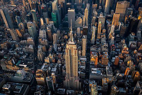 Empire State Building van boven van Thomas Bartelds