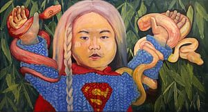 Kim Jong-un als Supergirl