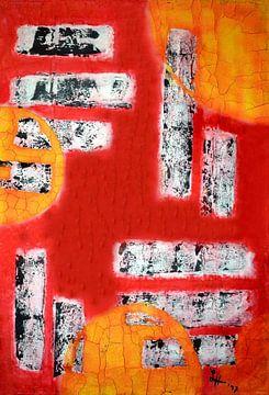 """""""Vierecke auf strukturiertem Grund, I."""" von elha-Art"""